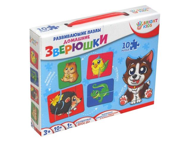 Игра развивающая Bright Kids Пазлы Домашние зверюшки ИН-7625