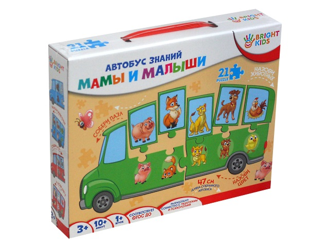 Игра развивающая Bright Kids Автобус знаний Мамы и малыши ИН-7638
