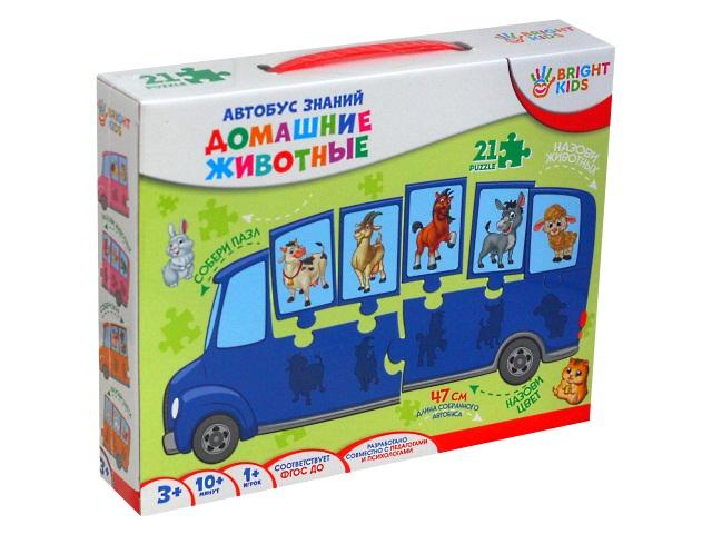 Игра развивающая Bright Kids Автобус знаний Домашние животные ИН-7639