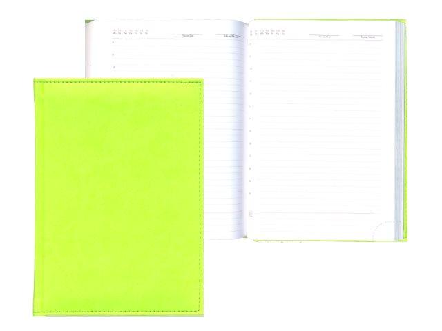 Ежедневник А5 тв/переплёт 160л Апплика Sorrento салатовый С0360-208