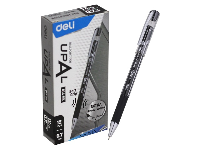 Ручка шариковая Deli Upal черная 0.7мм EQ14-BK