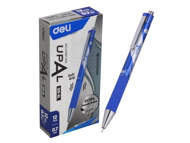 Ручка шариковая автомат Deli Upal синяя 0.7мм EQ16-BL