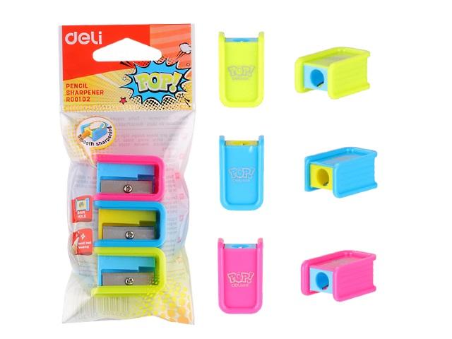 Точилки пластик 3 шт. Deli Pop ER00102