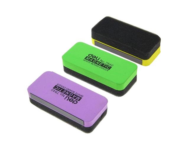 Губка для досок Deli 11*5 см магнитная цветная Е7840