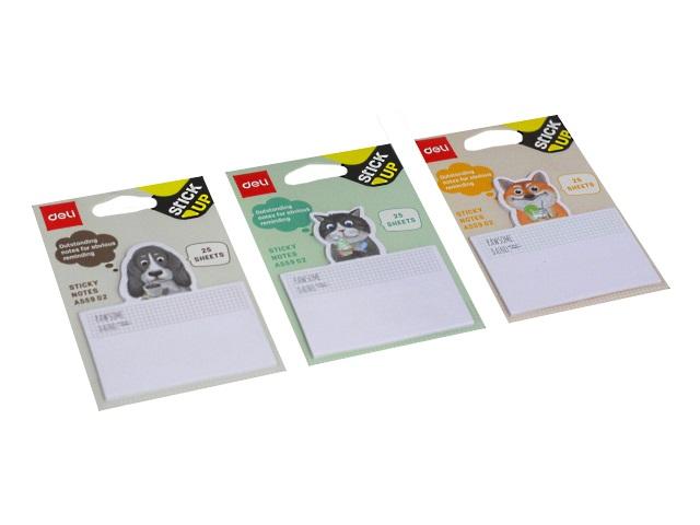 Стикер фигурный Deli Animals 25л цветной EA55902