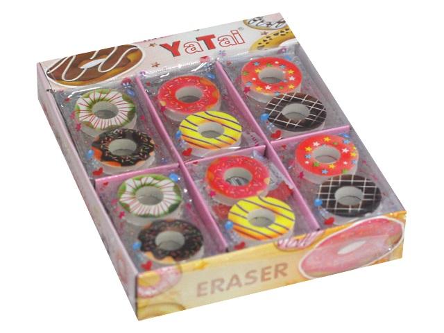 Ластики  2 шт. Basir Пончики фигурные цветные YT-1226