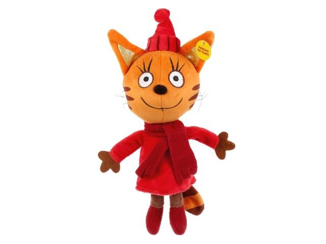 Мягкая игрушка с озвучкой Три кота Карамелька в зимней одежде 16см V92661-16