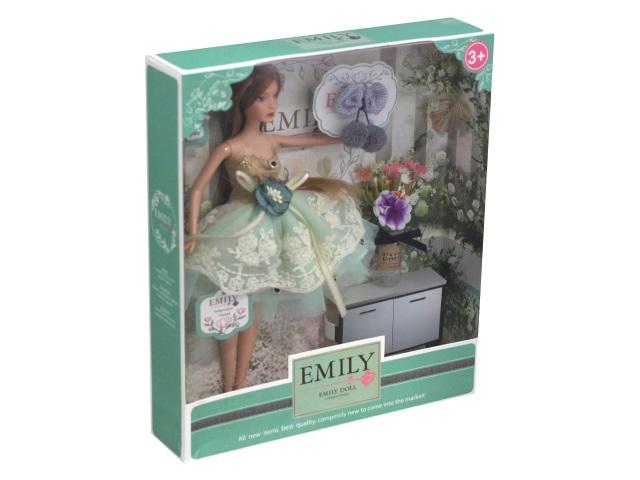 Кукла Emily Бирюзовый бант 28см 76976