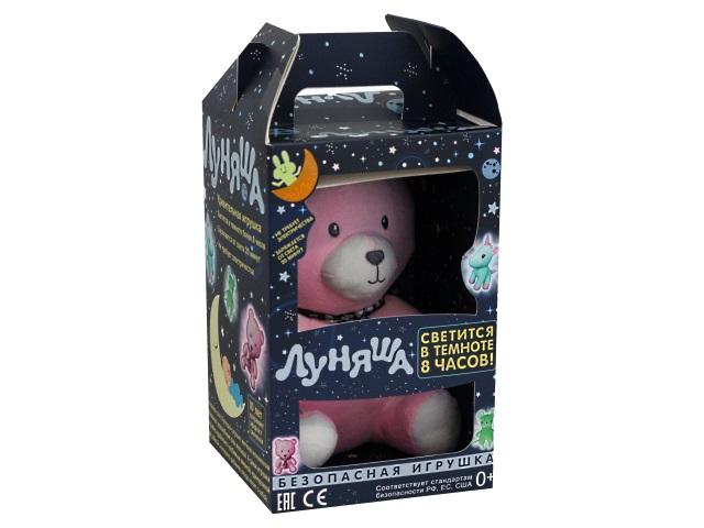 Мягкая игрушка Луняша Медведь Миша 24см светится в темноте 76567