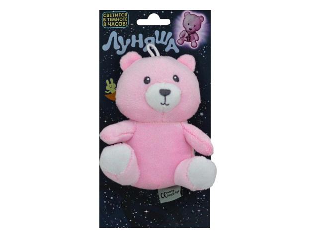 Мягкая игрушка Луняша Медведь Миша 10см светится в темноте 76575
