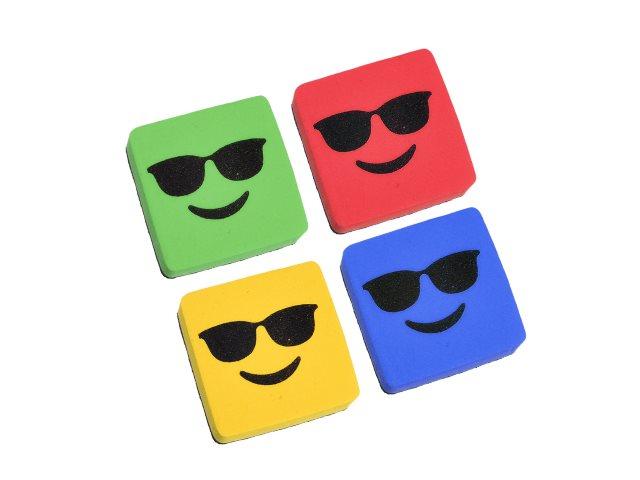 Губка для досок Mazari Smile 5*5*2 см магнитная велюр цветная M-6347