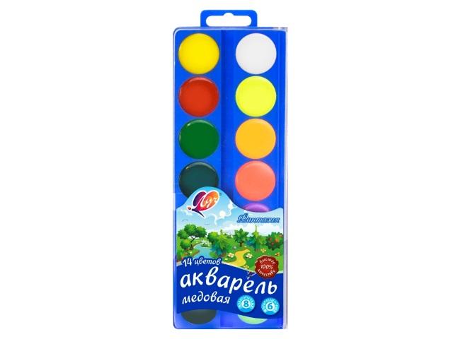 Краски 14 цветов акварель медовая Луч Фантазия 30С 1902-08
