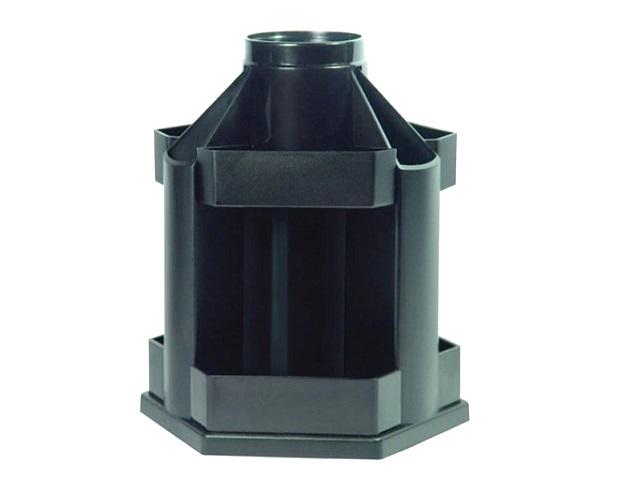 Подставка-органайзер 10 отделений Стамм MaxiDesk черная круглая ОР200