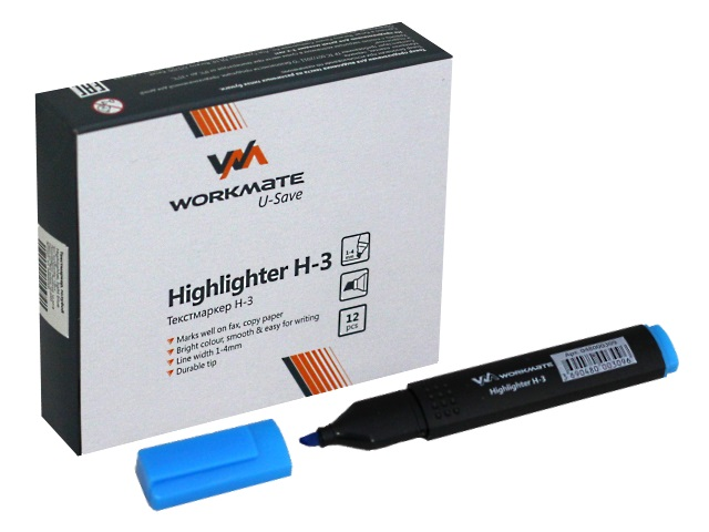 Маркер текстовый WM Н-3 голубой скошенный 1-4мм 048000309