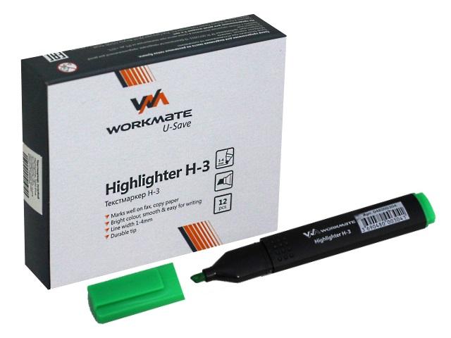 Маркер текстовый WM Н-3 зеленый скошенный 1-4мм 048000304