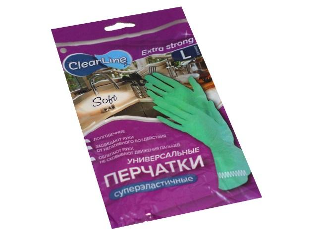 Перчатки резиновые Clear Line суперэластичные размер L