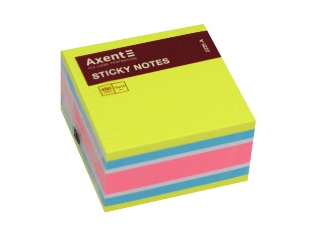 Стикер Axent 75* 75мм 450л 4 цвета неон 2326-51-А