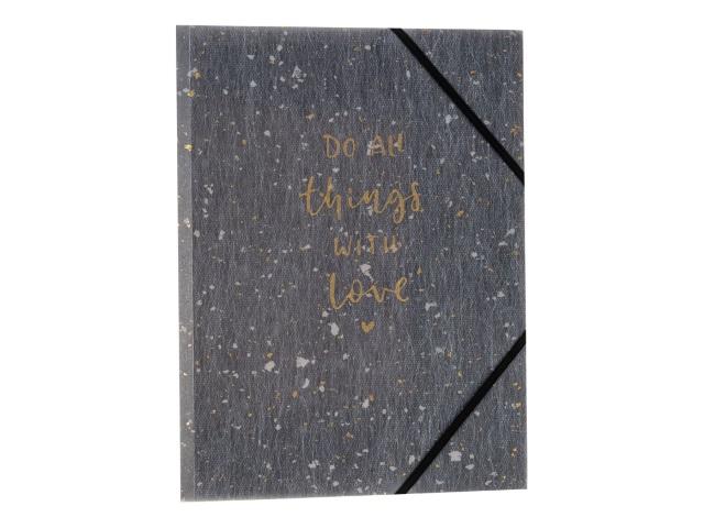 Папка на резинке А4 Axent Shade серая 1509-13-A