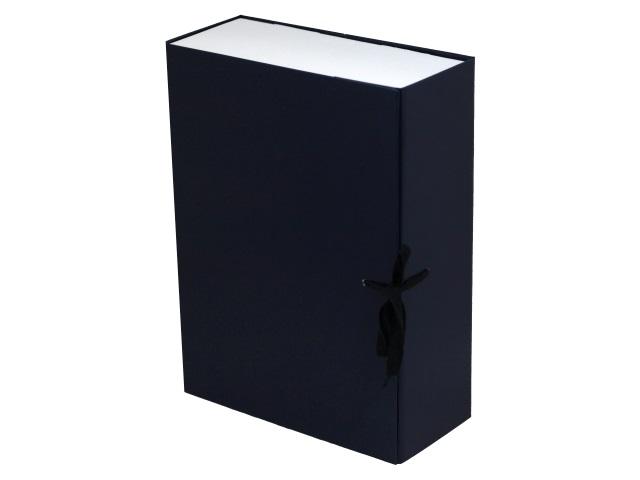 Папка архивная бумвинил на завязках А4 10см Имидж синяя КСБ4100-203