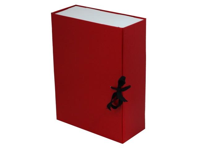 Папка архивная бумвинил на завязках А4 10см Имидж красная КСБ4100-201