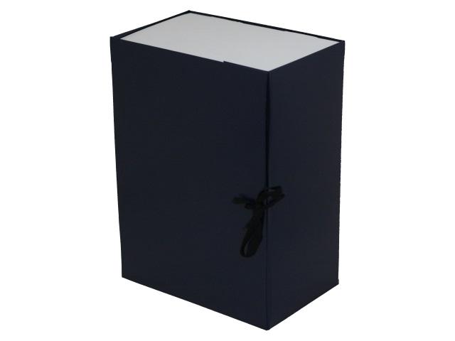 Папка архивная бумвинил на завязках А4 15см Имидж синяя КСБ4150-203