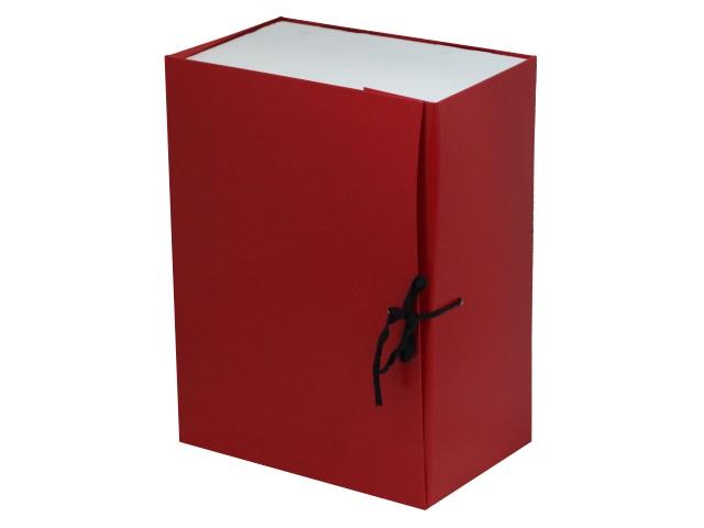 Папка архивная бумвинил на завязках А4 15см Имидж красная КСБ4150-201