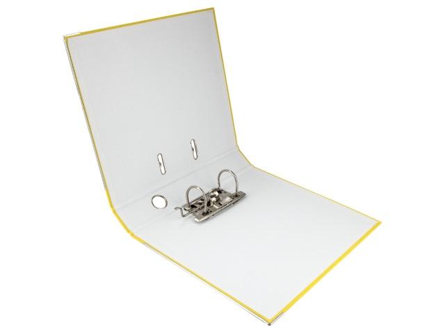Регистратор  А4/50 Axent желтый с металлической окантовкой D1713-08