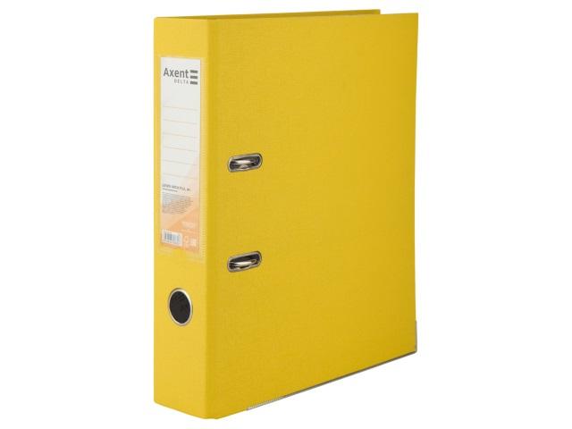Регистратор  А4/75 Axent желтый с металлической окантовкой D1714-08