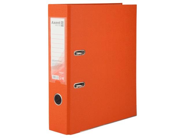 Регистратор  А4/75 Axent оранжевый с металлической окантовкой D1714-09