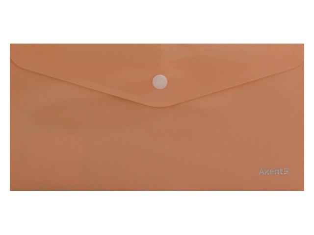 Папка конверт на кнопке DL Axent Pastelini персиковая 1414-42-A\12