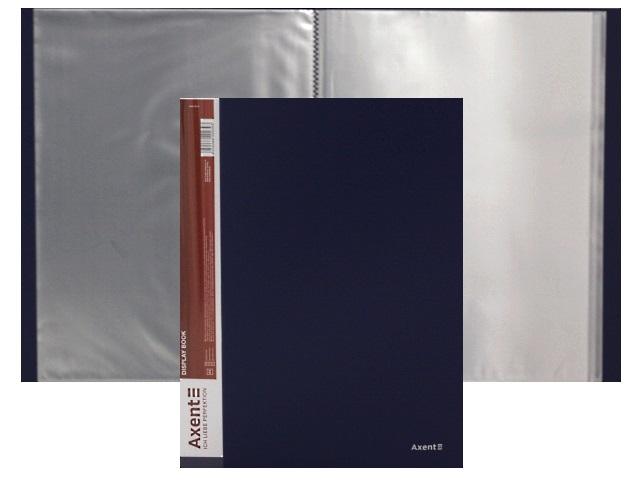 Папка с файлами  40ф А4 Axent 0.8мм синяя 1040-02-А