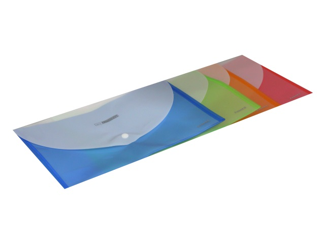 Папка конверт на кнопке А4 Axent с карманом 180 мкм цветная биколор 1404-20-А\12