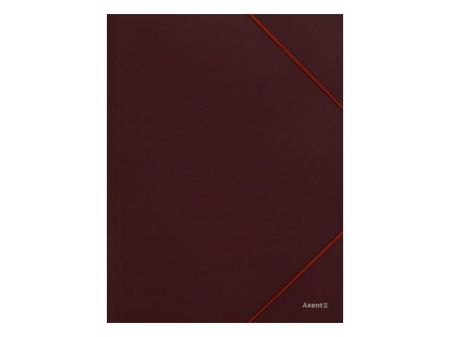 Папка на резинке А4 Axent бордовая 1508-04-A
