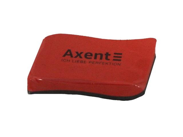 Губка для досок Axent Wave 10*5см с магнитом красная 9804-04-A