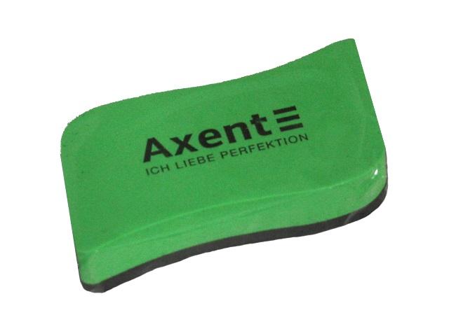 Губка для досок Axent Wave 10*5см с магнитом зеленая 9804-05-A
