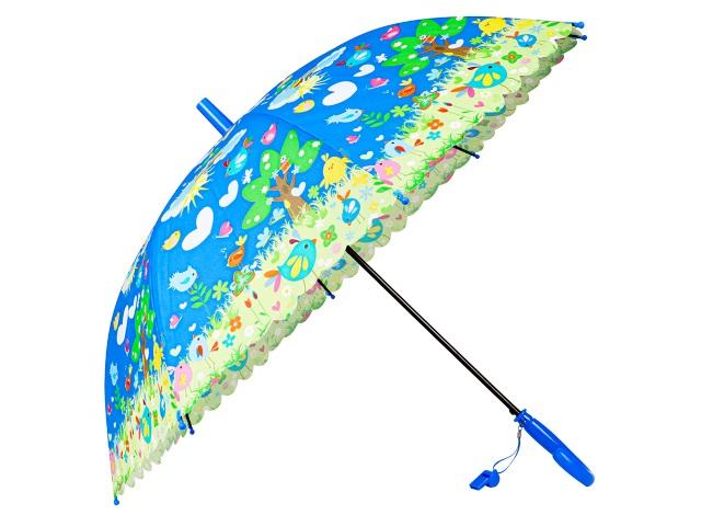 Зонт детский 50 см Птички + свисток AN01192