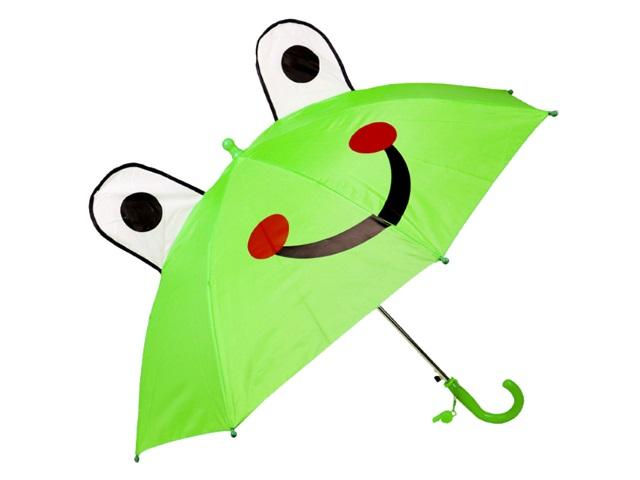 Зонт детский 45 см с ушками Лягушка AN01195