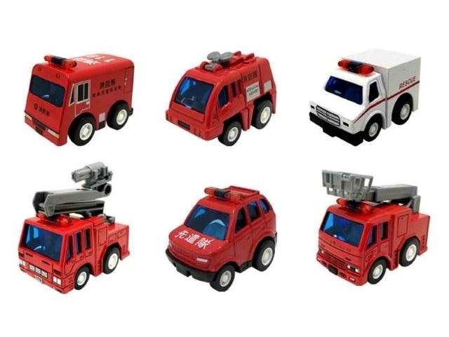 Набор машин металл 6 шт. Микромобили Пожарные 7см ZY911697