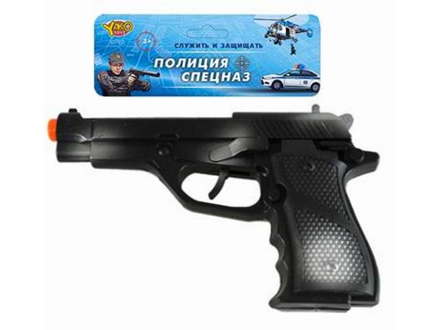 Пистолет трещетка 20см Полиция Спецназ M0336