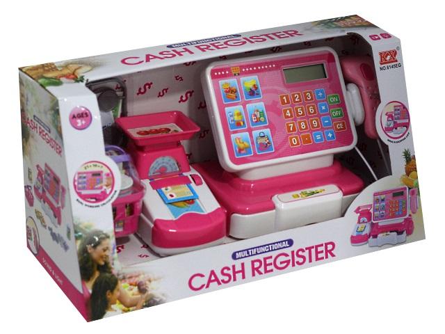 Касса на батарейках Розовый магазинчик 1817364