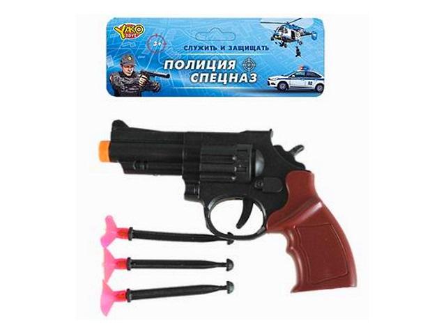 Револьвер с присосками 17см Полиция Спецназ YakoToys M0338