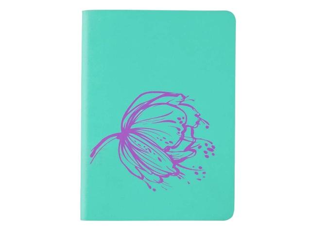 Записная книжка В6 Axent прорезиненая обложка 80л Partner Soft Mini Wind лавандовая 8302-07-A