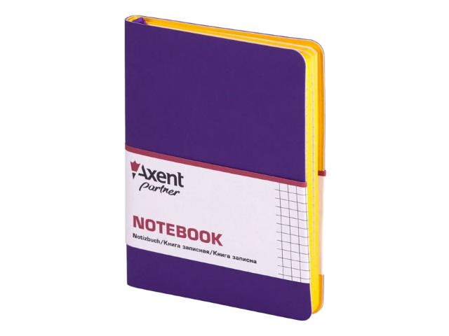 Записная книжка В6 Axent прорезиненая обложка 80л Partner Mini фиолетовая 8205-11-A