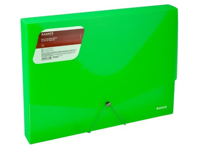 Папка-бокс на резинке А4 Axent прозрачная зеленая 1502-26-A