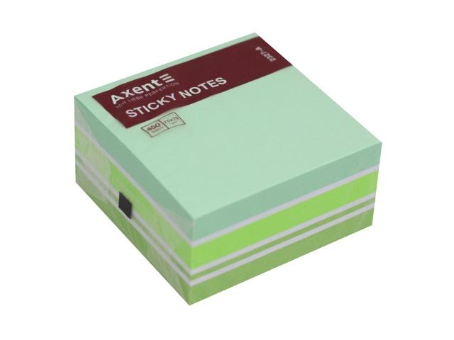 Стикер Axent 75* 75мм 450л 4 цвета зеленый 2327-71-A