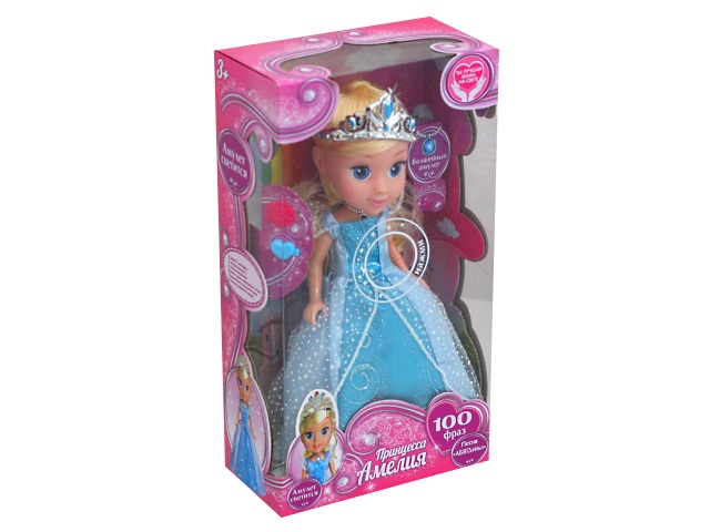 Кукла интерактивная Амелия 25см 100 фраз Карапуз AM25-01-RU