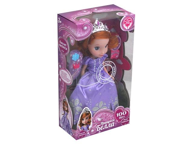 Кукла интерактивная Белла 25см 100 фраз Карапуз BL25-01-RU