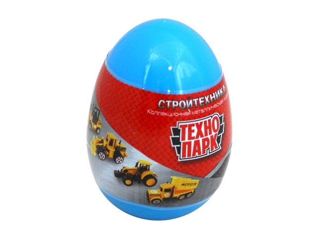 Машинка-сюрприз в яйце Технопарк Строительная техника металл 7.5см SB-17-12-CDU