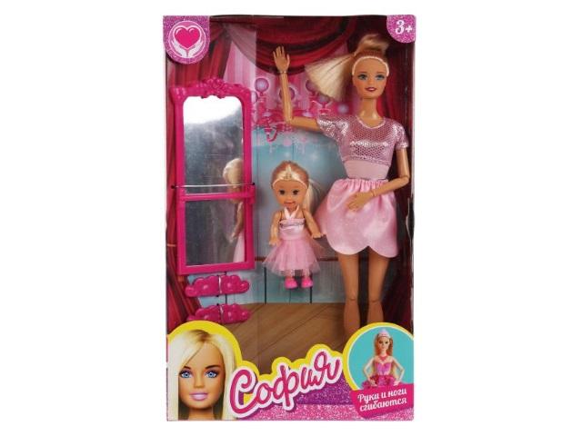 Кукла София Балерина 29см с малышкой Карапуз B175-S-BO