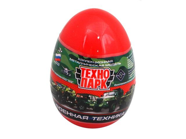 Машинка-сюрприз в яйце Технопарк Военная металл 7.5см SB-14-16